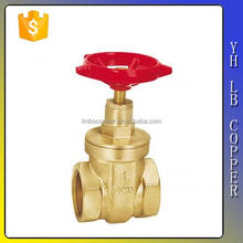 LINBO-C957Easy installation customized pn16 2 3 4 5 6 8 inch 200g water copper brass gate valve 3 inch