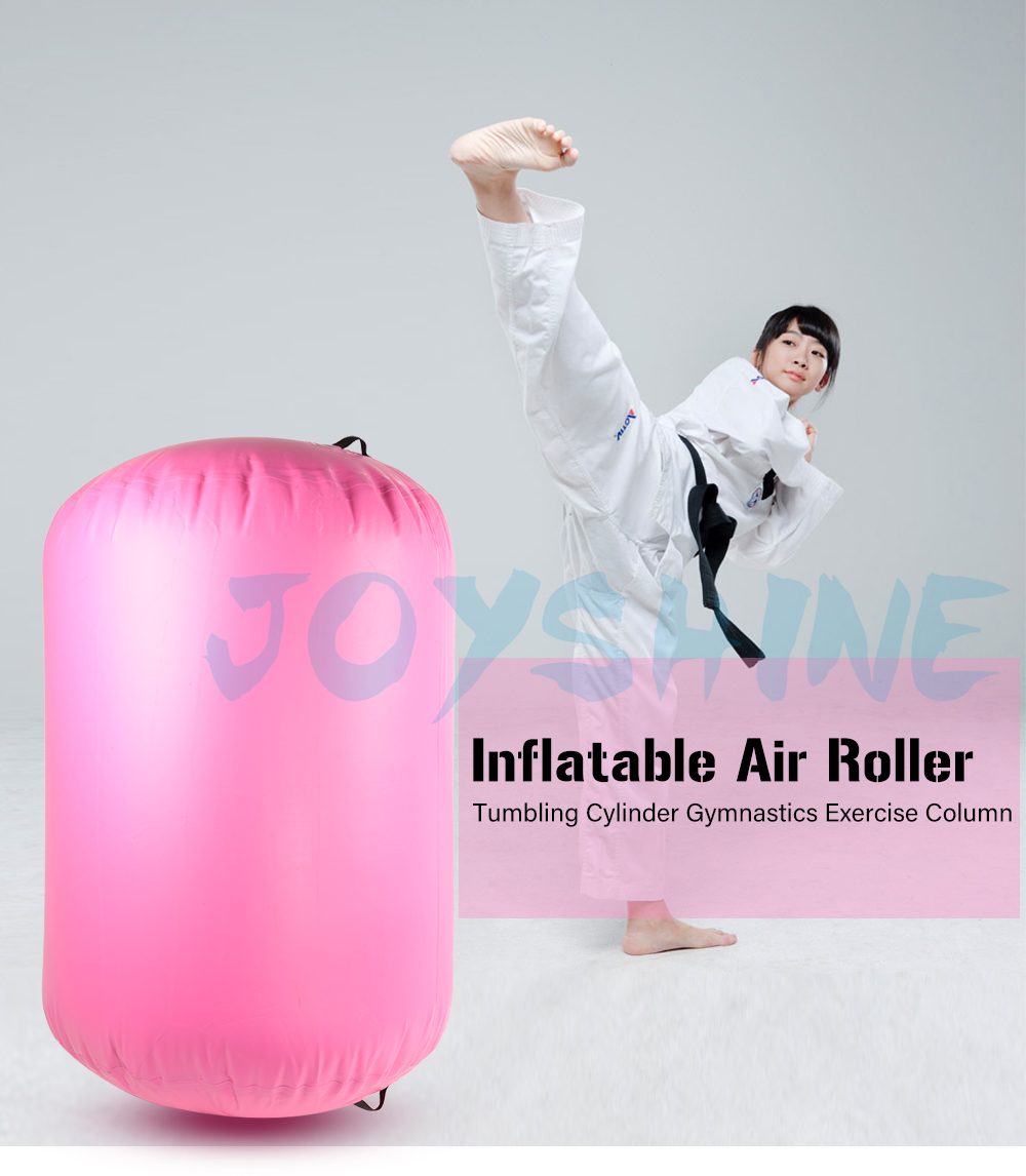 100x85cm Green Inflatable PVC Gymnastics Home GYM Air Mat Barrel Track Roller US