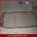 Stainless Steel Instrument Sterilizing Tray Basket