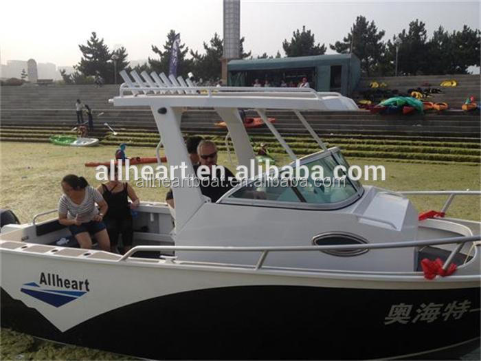 walk around fishing 6.7m speed cabin boat used for aluminum 5083