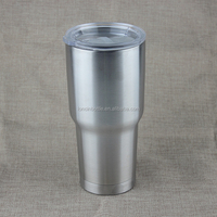 24oz Vacuum Insulated Stainless Steel Travel Tumbler with non-spill slide splash lid/beer mug