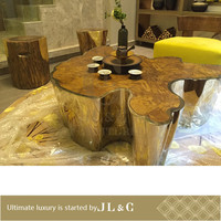 Newly customized Luxury Living Room New Design RT0717A Stainless Steel Tea Table From JL&C Furniture (China supplier)