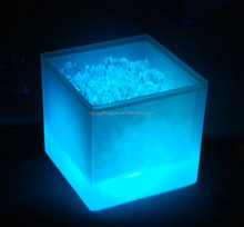 LED ice bucket / square LED light ice bucket