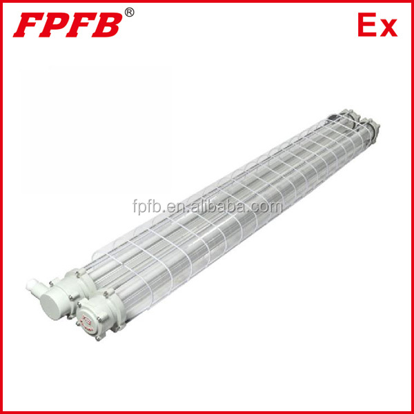 BPY ATEX IECEX certified GRP explosion proof T8 LED lighting fixture G13