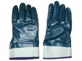 Brand MHR 3 layers impregnated nitrile gloves safety cuff jersey liner full coated blue nitrile safety gloves