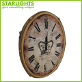 beautiful design shabby chic round quality metal oversized wall clocks