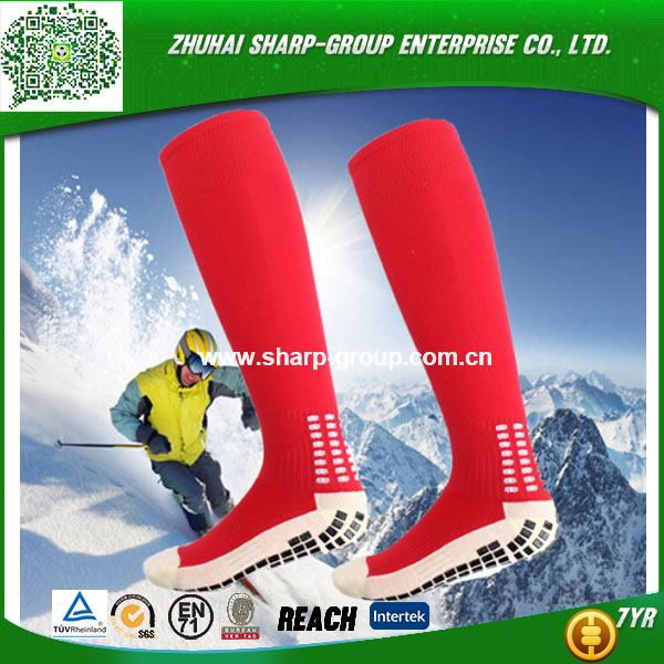 Manufacture high quality 100% Polyester Customized professional knee high football socks