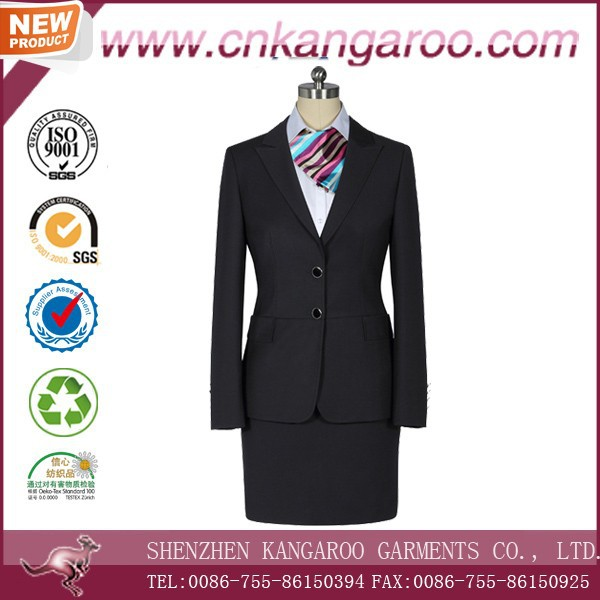 Well Groomed Two piece ladies office skirt suit