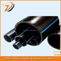 PE100 black plastic polyethylene pipe and tube for water fittings