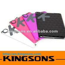 wholesaling top sales! multicolor fashion case for ipad 2 silicon gel material OK rings of character design