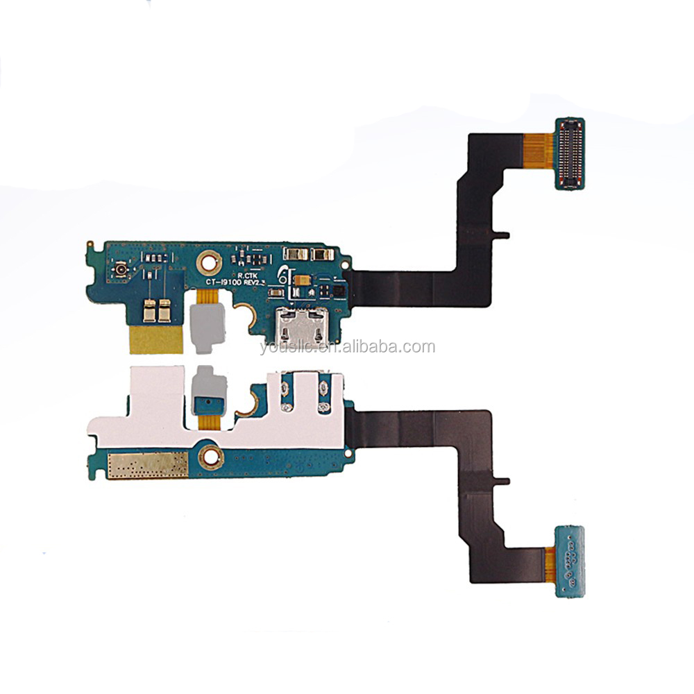 New Replacement Original Mobile Phone Charging Port Dock Connector Flex Cable Charger Connector Flex For Samsung Galaxy S2 I9100