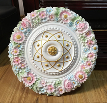 Hot decorative polyuurethane ceiling rose medallion for hotel and beding room