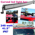 curved 240w jeep car led night light 42 inch ce rohs led light bar
