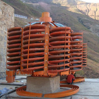 widely use gravity method Spiral Concentrator for gold, chrome, tin, mineral processing