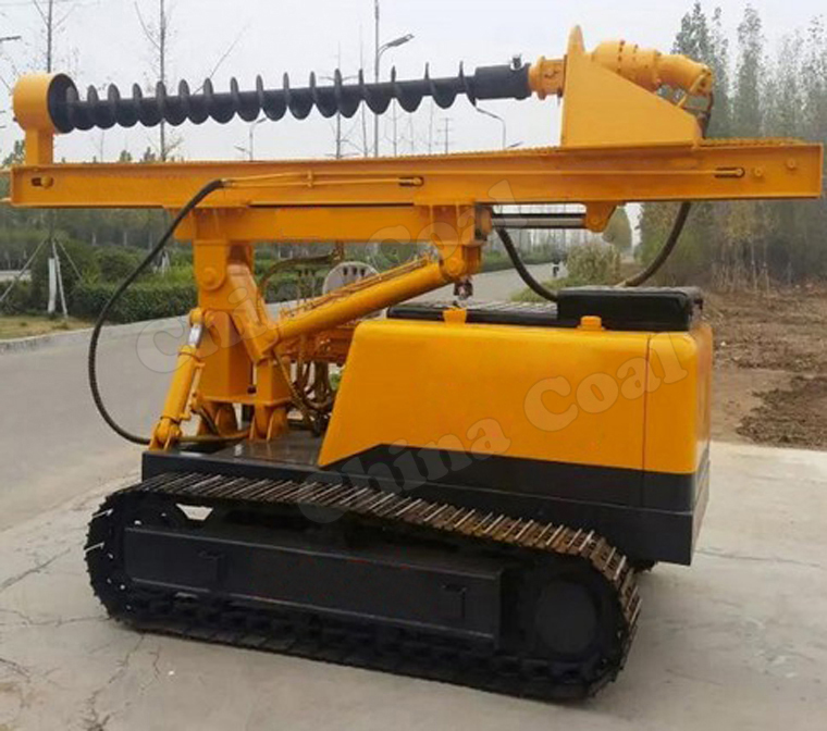 Low Cost Construction Hydraulic Auger Drilling Rig Pile Driving Machine Screw Pile Driver