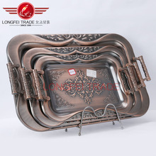 2016 New Hot sale Stainless Steel Food Tray Plate Silver Plated Serving Trays