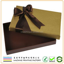 Rigid Cardboard Chipboard Two Pieces With Ribbon Paper Gift Boxes For Shoes Clothes