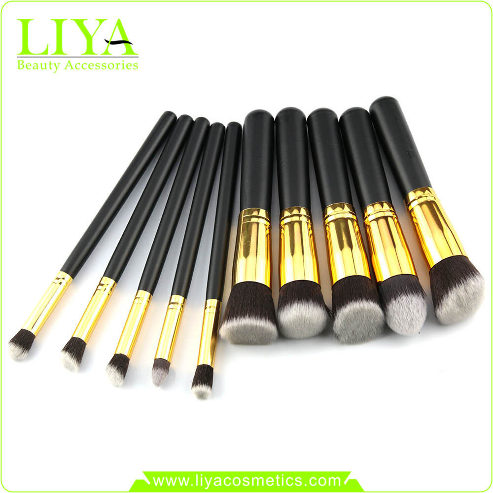 10 PCS brandnew traveling makeup brush set for nose for girls and women