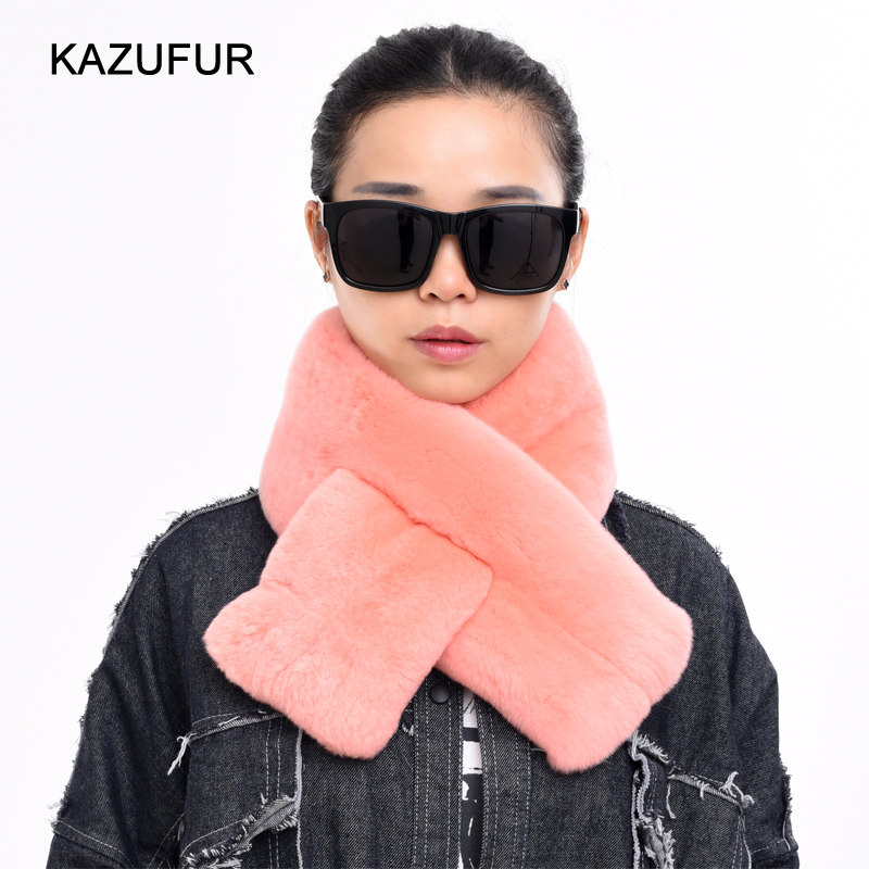 KZ160158 High quality women winter short style rabbit fur scarf