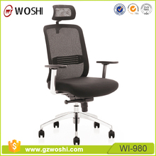 Modern breathable mesh back Fabric upholstered Executive ergonomice office chair with headrest tilt Swivel function
