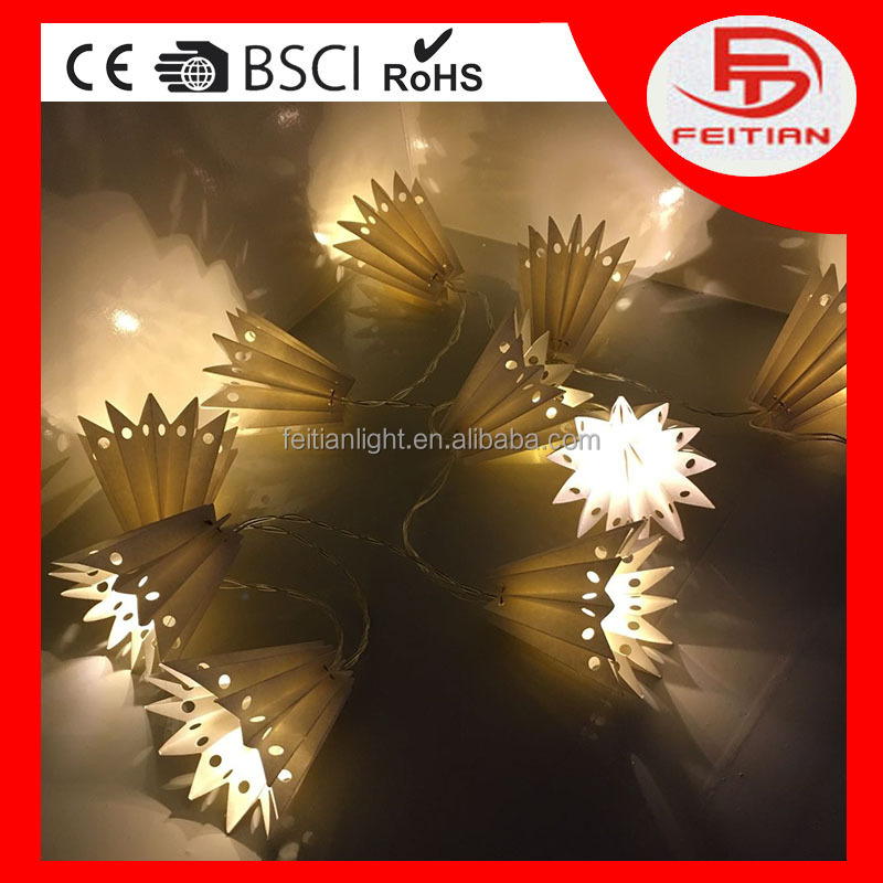 The battery operated popular designed in decorative led paper candlestick light with CE&ROHS repoter led light chain