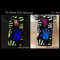 Hard covers Cell Phone cases for iphone 4 4S/4 4S /6Plus /6S Plus Phone Accessories Luminous Glow in Dark