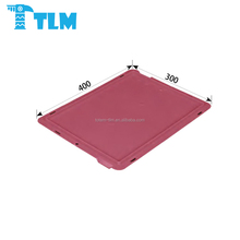 400x300mm China Manufacturer Low Price Reusable Storage Virgin PP Red EURO STACKING CONTAINER LID for Industrial