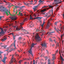 Breathable Sexy Girl Hot Saling Flocking Mesh Printing Fabric/Net Printed Underwear Fabric