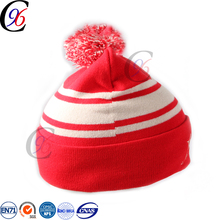 Chengxing new style hot selling pattern outdoor warm fashion wholesale portugal itali logo custom knit beanie hat