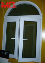 modern upvc tempered double glazing glass arch top casement windows