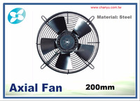 200mm steel blade, external rotor axial fans