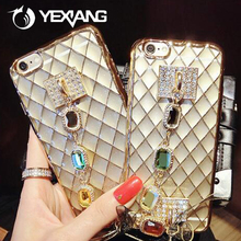 Bling Rhinestone Case For iPhone 7Plus Luxury Bracelet Plating Phone Cover