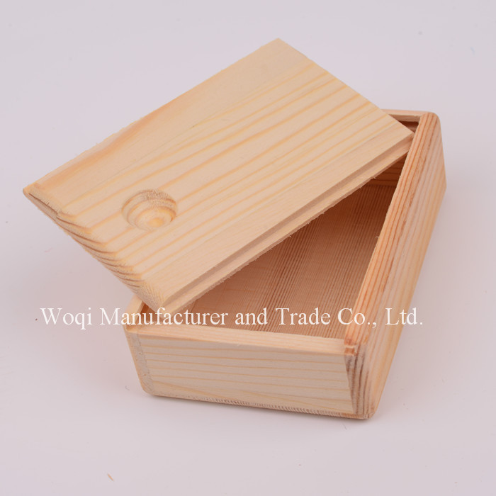Woqi 2017High quality sliding lid wooden art crafts small jewelry tea package gift packaging box