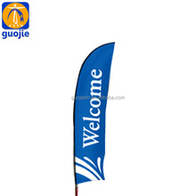 Custom outdoor polyester fabric advertising beach flag