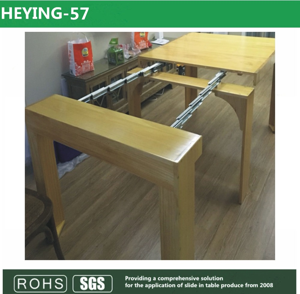 Invisible table telescopic slide table sliding ,multi-section table slide