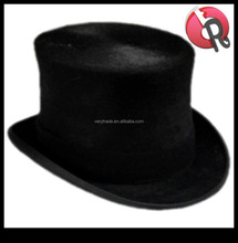 Brand New Mens Wool Felt Black Top Hat Formal Events Wedding Hat