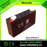 kanglida best price 6v 1.3ah VRLA rechargeable battery for security alarm system