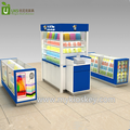 Hot sale mobile phone mall kiosk with phone case glass showcase design