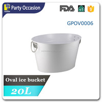Galvanized oval wine Party Tub with white Powder coating GPOV0006