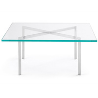 Ajustable oval glass coffee table dining table