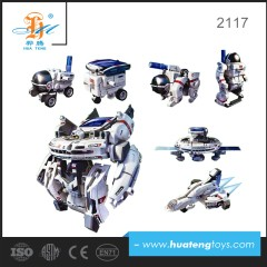 shantou chenghai toy factory wholesale 14 in 1 solar robot for kids