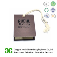 Wholesale High Quality Custom Printed Brand Logo Garment Paper Cardboard Name Hang Tags and Labels