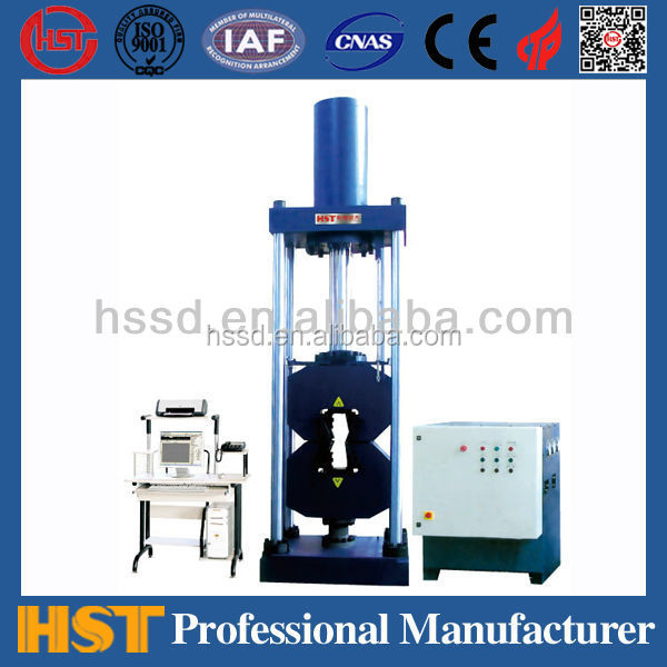 WAW-L 600kn Computer Control Single Pull Testing Machine or universal ultimate leather Tensile strength Testing Machine