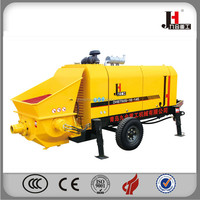 Best price dhbt60/80m3 mobile diesel Concrete Pump for sale to UAE with Rexroth hydraulic system
