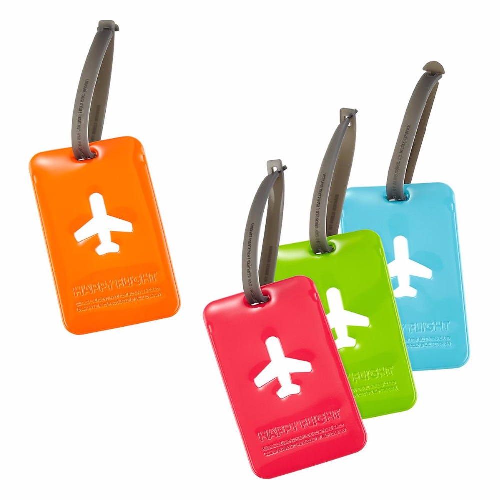 multicoloured Passport Cover Luggage Tag Travel Set