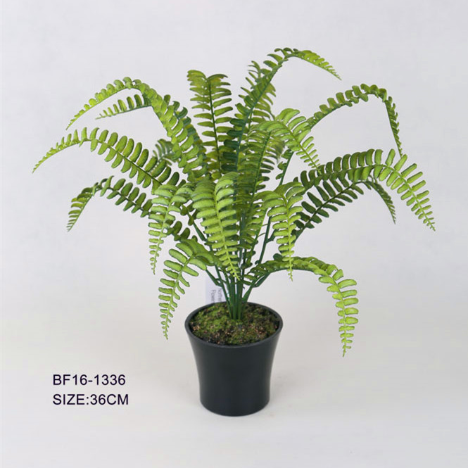 Artificial low price plastic green shrubs with plastic pot