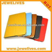 Colorful candy leather case cover stand with soft frame for iPad mini