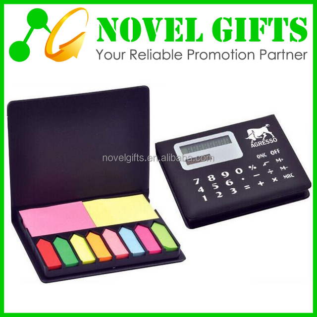 Promotion Solar Calculator with Writing Memo Pad Notepad