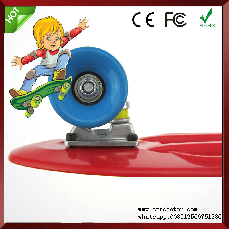 82A/90A blue/yellow/white cruiser skate board