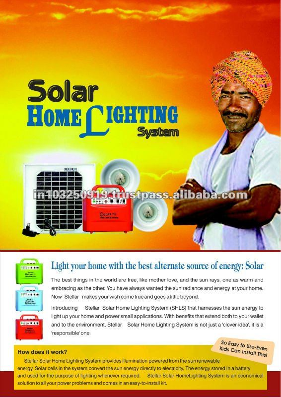 Portable solar lighting system for indoor use